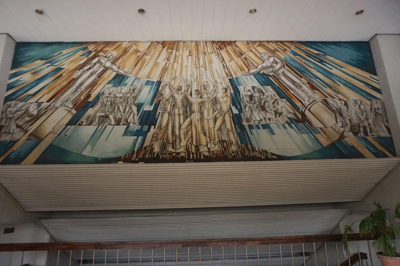 Wandschildering | Cultuur- en Sportcentrum | Vilnius | Litouwen
