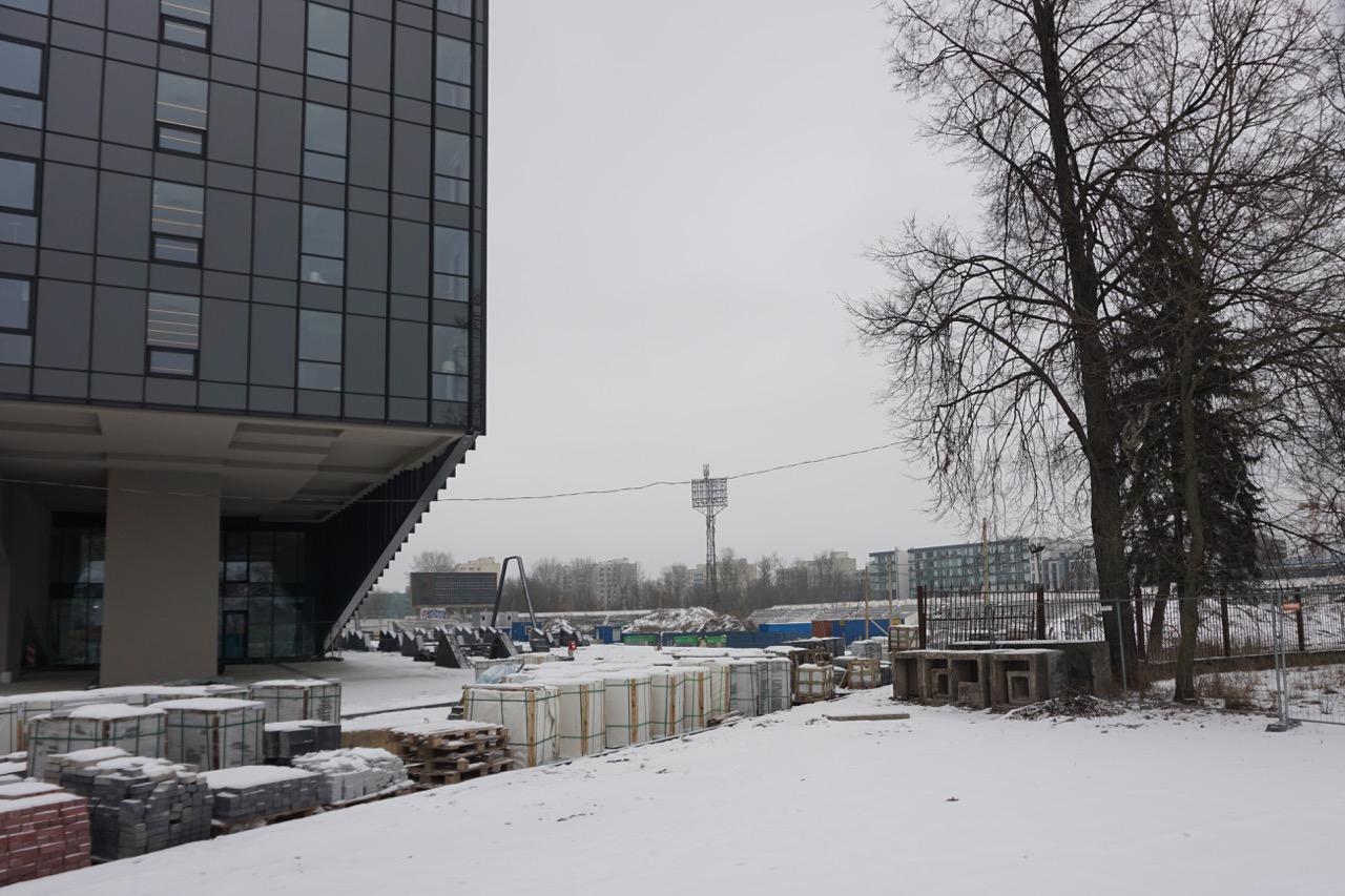 Bouwput rond Žalgiris Stadion | Vilnius | Litouwen