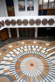 Interieur nationale bibliotheek   Kosovo   Pristina