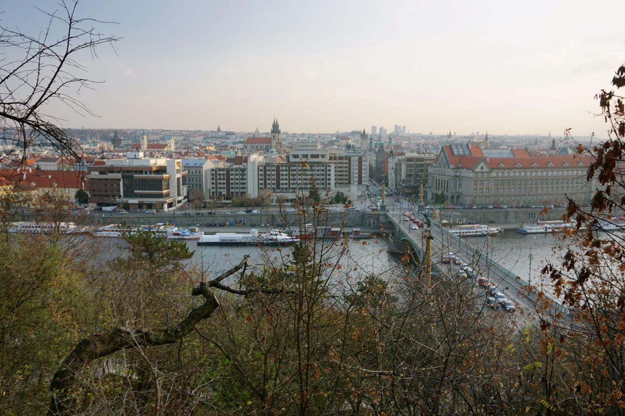 Uitzicht vanaf Letna | Praag | Tsjechië | november 2018