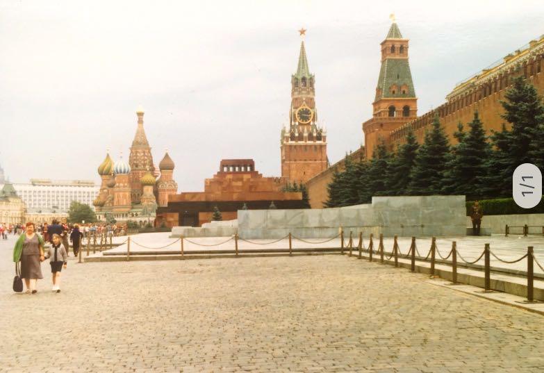 Rode Plein met Leninmausoleum | Moskou | Sovjet-Unie 1989