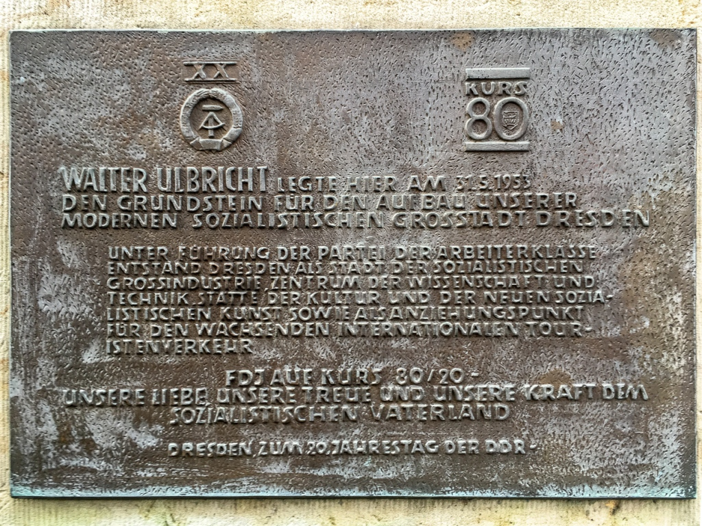 Plaquette Altmarkt | Dresden | Duitsland