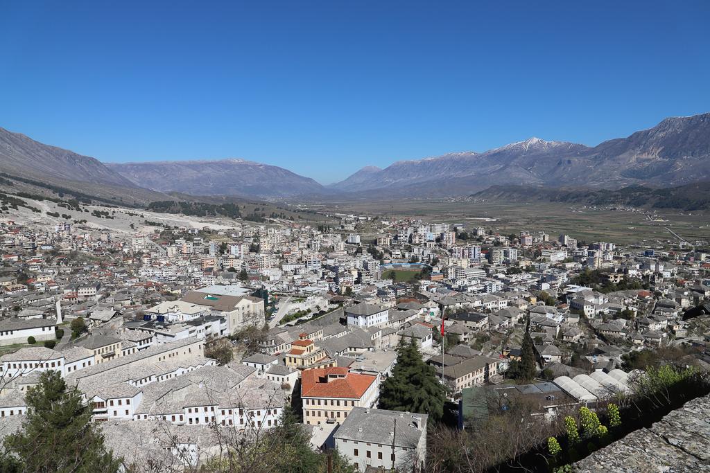 Uitzicht over Gjirokastër | Gjirokaster | AlbaniëKalaja e Argji