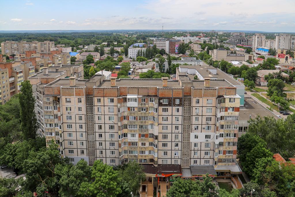 Uitzicht vanuit Panelka | Tiraspol | Transnistrië