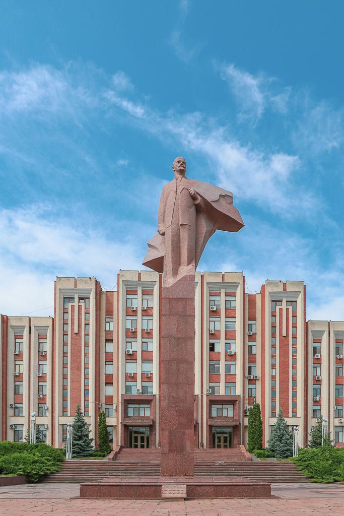 Lenin bij Parlementsgebouw | Tiraspol | Transnistrië