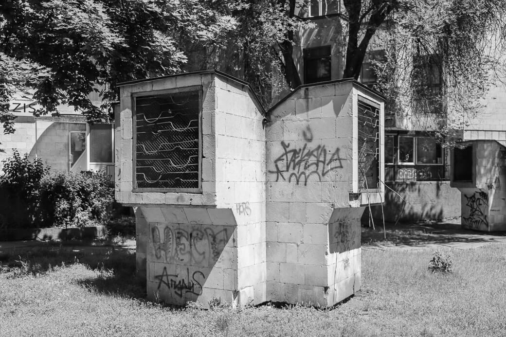 Luchtkoker bij bibliotheek Din Hol | Chisinau | Moldavië