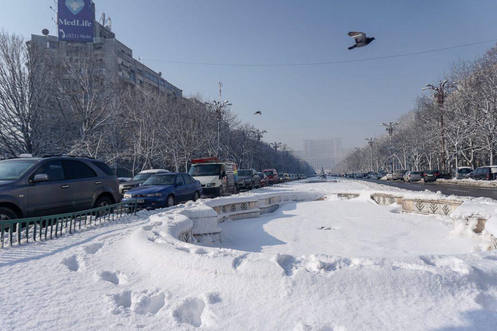 Boulevard van de Eenheid met Parlementspaleis | Boekarest | Roemenië