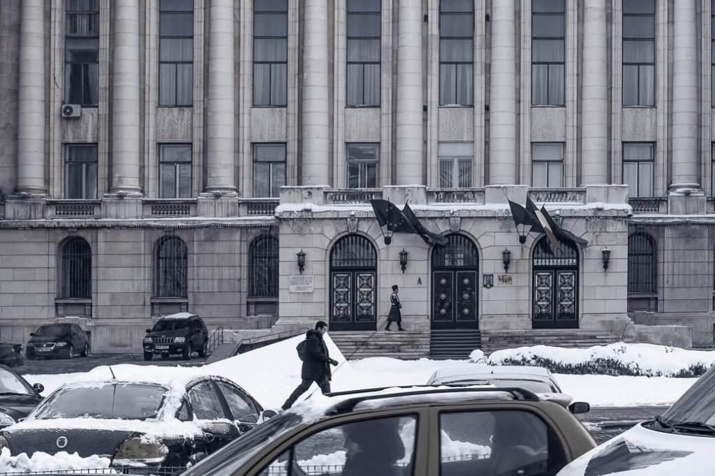 Balkon laatste speech Ceaucescu | Boekarest | Roemenië