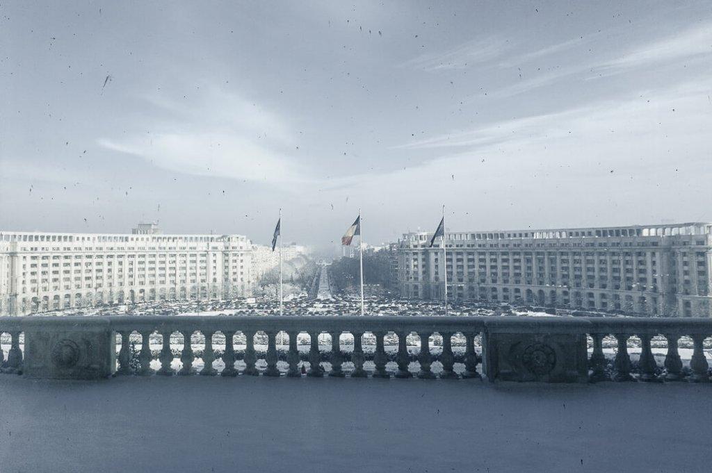 Uitzicht op Boulevard van de Eenheid vanuit Parlementsgebouw | Boekarest | Roemenië